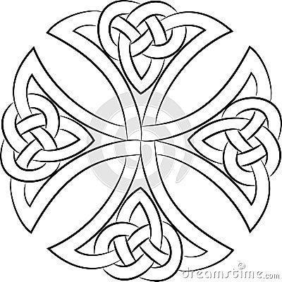 Celtic knot cross Vector Illustration