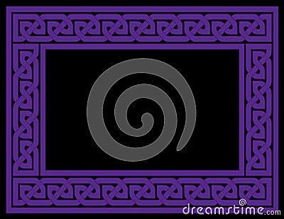 Celtic Knot Frame, Purple, vector version