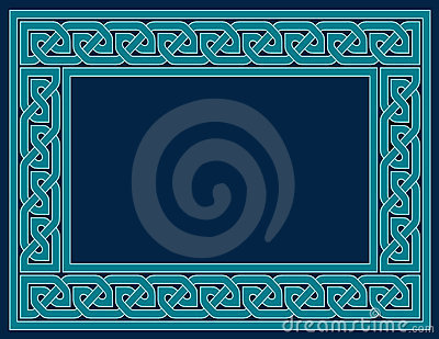Celtic Knot Frame, Teal Blue