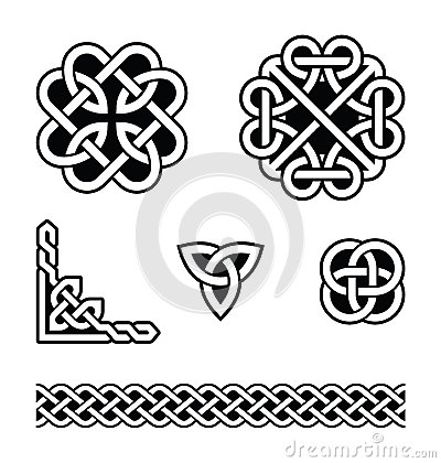 Free Celtic Knots Patterns -  Royalty Free Stock Photography - 28841487