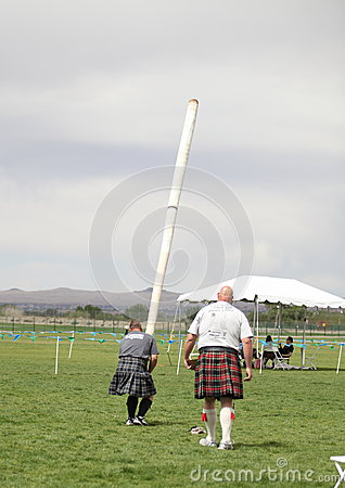 Celtic Man Caper Toss Editorial Stock Image