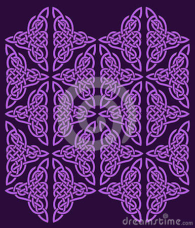 Celtic ornament of flowers