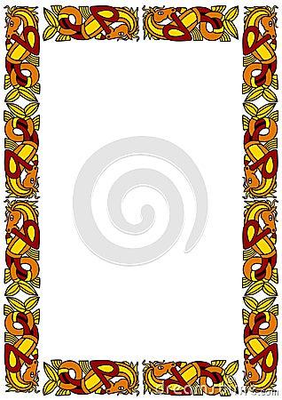 Celtic ornamental frame