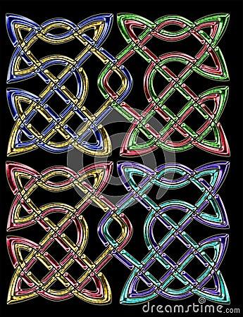 Celtic pair knots