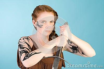 Celtic redhead beauty