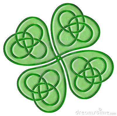 Celtic Shamrock Stock Photo