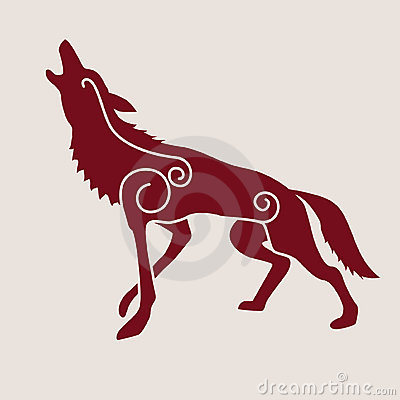 Celtic symbol of wolf