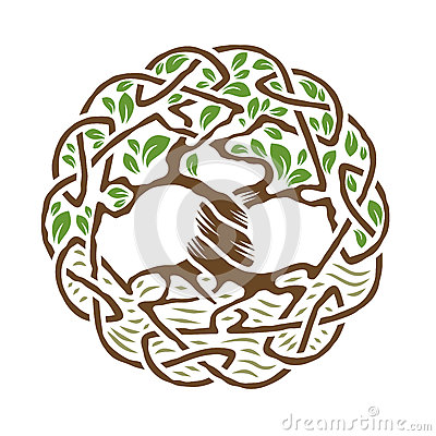 Celtic Tree of Life Vector Illustration