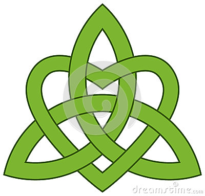 Free Celtic Trinity Knot With A Heart Royalty Free Stock Photography - 36381727