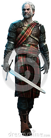 Celtic warrior Cartoon Illustration