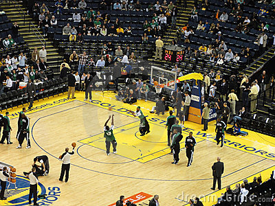 Celtics shoot around during pre-game warm-ups Editorial Stock Photo