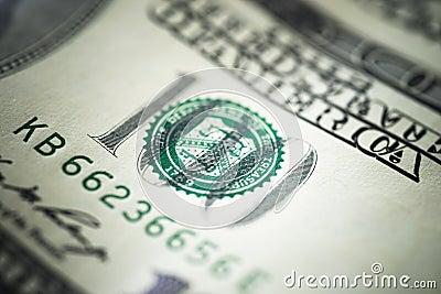 Cem cédulas do dólar