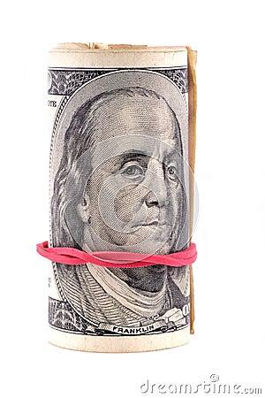 Cem dólares de notas de banco