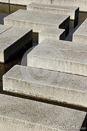 Cement blocks. Stock Photo