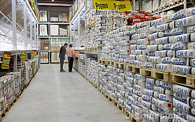 Cement and construction materials store Editorial Image