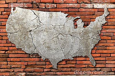 Cement cracking image United State map