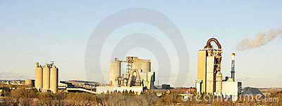 Cement factories panorama
