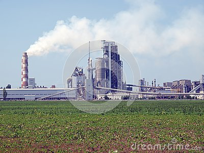 Cement factory.