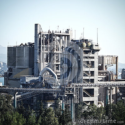 Free Cement Factory Royalty Free Stock Photos - 53512098