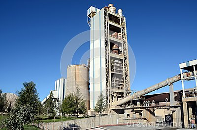 Cement factory ovens