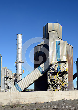 Cement factory towers