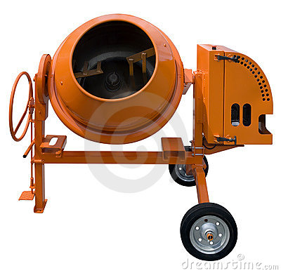 Free Cement Mixer Cutout Stock Photo - 6864580