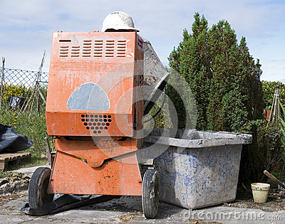 Cement mixer and hat