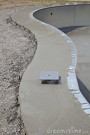 Cement pool deck