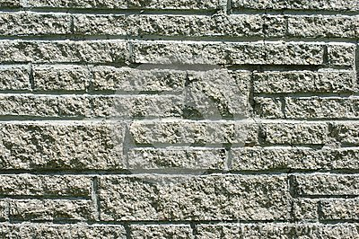 Cement stone wall
