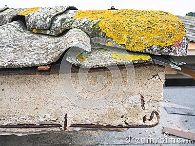 Cemento ed amianto del tetto fotografia stock   immagine: 40110093