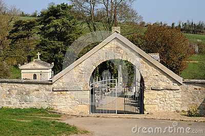 The cemetery of Condecourt  in Val d'Oise