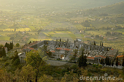 Cemetery In Cortona, Italy Royalty Free Stock Photos - Image: 2462118