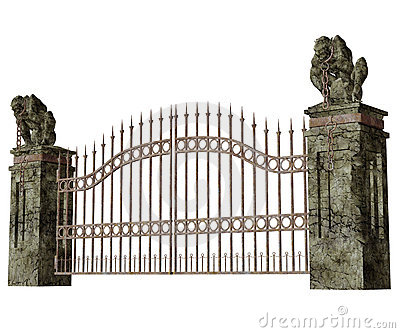 Graveyard Fence Clipart cemetery gate stock illustrations, vectors ...