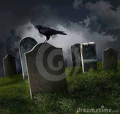 Free Cemetery With Old Gravestones Stock Image - 16513291