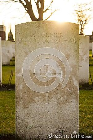 Free Cemetery World War Flanders Fields Belgium Royalty Free Stock Image - 37412656