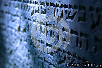 Cemitério judaico velho em Ozarow. Poland