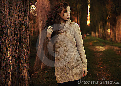Cenário romântico do outono