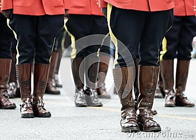 Cena da parada de RCMP