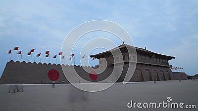 Cenas de Daming Palace National Heritage Park, xi ', shaanxi, China vídeos de arquivo