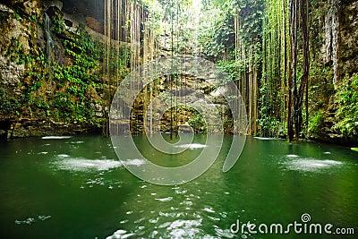 Cenote near Chichen Itza in Mexico