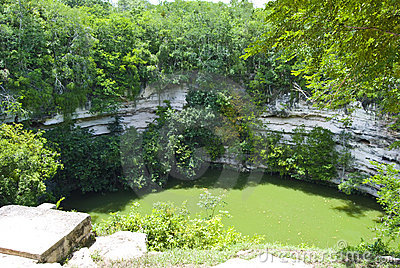 Cenote sink hole