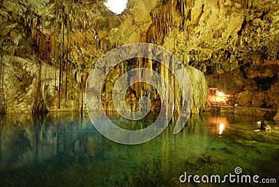 Cenote or subterranean lake.