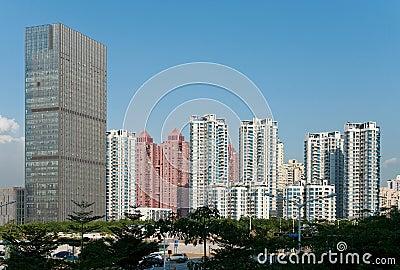 Cenário da arquitectura da cidade