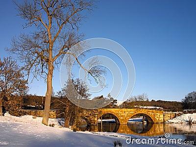 Cenário do inverno - Yorkshire norte - Inglaterra