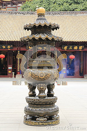 Free Censer In Asian Chinese Temple Royalty Free Stock Photography - 47552207