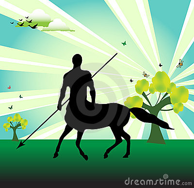Free Centaur With Spear Stock Photography - 8875812