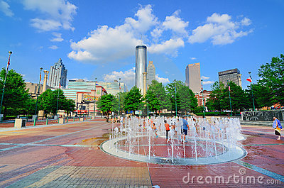 Centennial-Olympic Park Editorial Photography