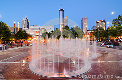 Centennial Olympic Park Editorial Photography