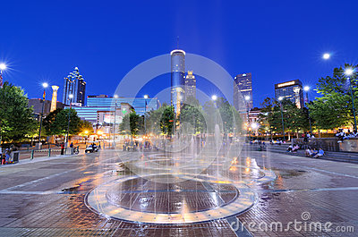 Centennial Olympic Park Editorial Stock Image