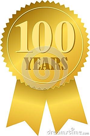 Free Centennial Seal And Ribbon/eps Royalty Free Stock Image - 5392326